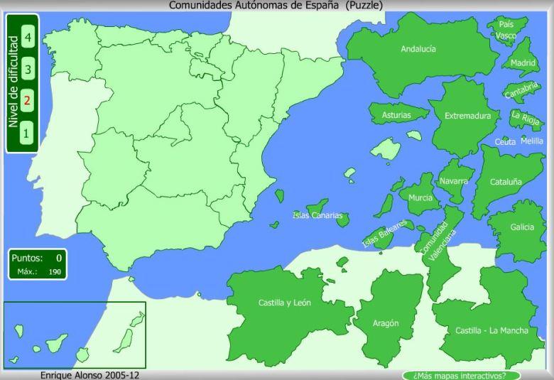 MapasComunidadesEspaña